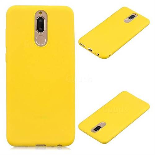 Candy Soft Silicone Protective Phone Case for Huawei Mate 10 Lite / Nova 2i / Horor 9i / G10 - Yellow