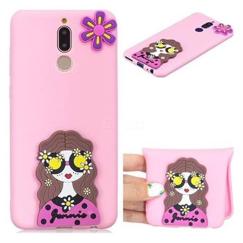 Violet Girl Soft 3D Silicone Case for Huawei Mate 10 Lite / Nova 2i / Horor 9i / G10