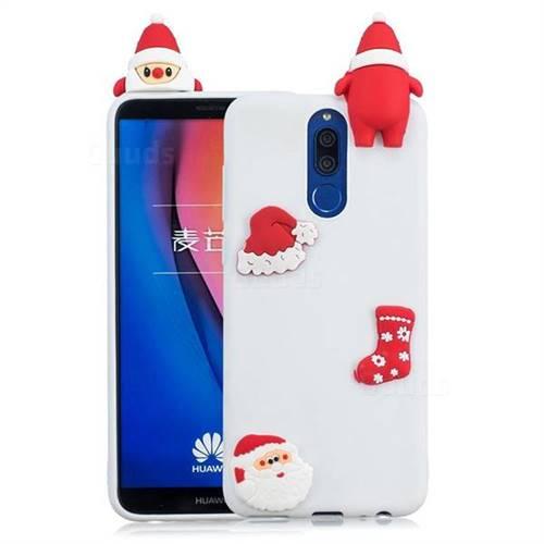 White Santa Claus Christmas Xmax Soft 3D Silicone Case for Huawei Mate 10 Lite / Nova 2i / Horor 9i / G10
