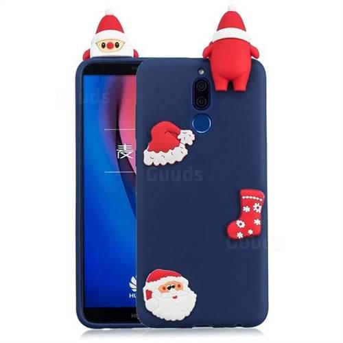 Navy Santa Claus Christmas Xmax Soft 3D Silicone Case for Huawei Mate 10 Lite / Nova 2i / Horor 9i / G10