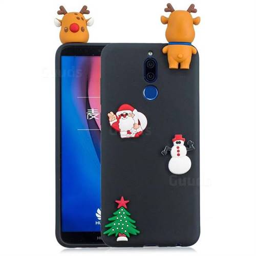 Black Elk Christmas Xmax Soft 3D Silicone Case for Huawei Mate 10 Lite / Nova 2i / Horor 9i / G10