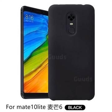 Howmak Slim Liquid Silicone Rubber Shockproof Phone Case Cover for Huawei Mate 10 Lite / Nova 2i / Horor 9i / G10 - Black