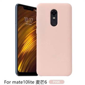 huge discount 702df c9982 Howmak Slim Liquid Silicone Rubber Shockproof Phone Case Cover for Huawei  Mate 10 Lite / Nova 2i / Horor 9i / G10 - Pink