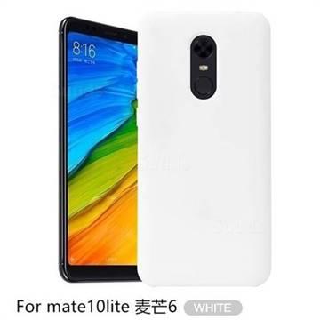 Howmak Slim Liquid Silicone Rubber Shockproof Phone Case Cover for Huawei Mate 10 Lite / Nova 2i / Horor 9i / G10 - White