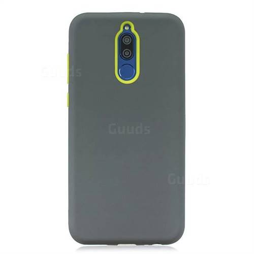 online store 6004d 081fe Matte PC + Silicone Shockproof Phone Back Cover Case for Huawei Mate 10  Lite / Nova 2i / Horor 9i / G10 - Gray