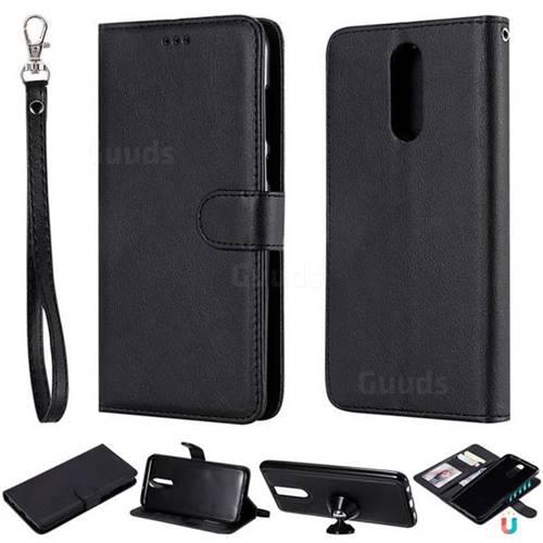 Retro Greek Detachable Magnetic PU Leather Wallet Phone Case for Huawei Mate 10 Lite / Nova 2i / Horor 9i / G10 - Black