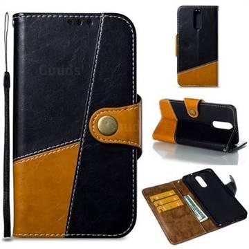 Retro Magnetic Stitching Wallet Flip Cover for Huawei Mate 10 Lite / Nova 2i / Horor 9i / G10 - Black