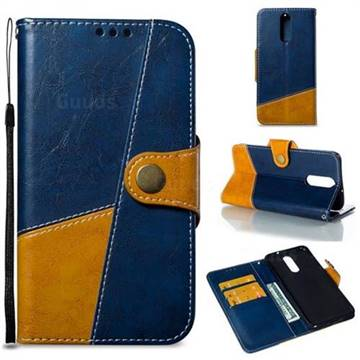 Retro Magnetic Stitching Wallet Flip Cover for Huawei Mate 10 Lite / Nova 2i / Horor 9i / G10 - Blue