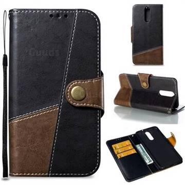 Retro Magnetic Stitching Wallet Flip Cover for Huawei Mate 10 Lite / Nova 2i / Horor 9i / G10 - Dark Gray