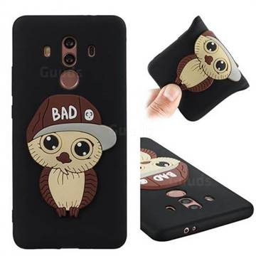 Bad Boy Owl Soft 3D Silicone Case for Huawei Mate 10 Pro(6.0 inch) - Black