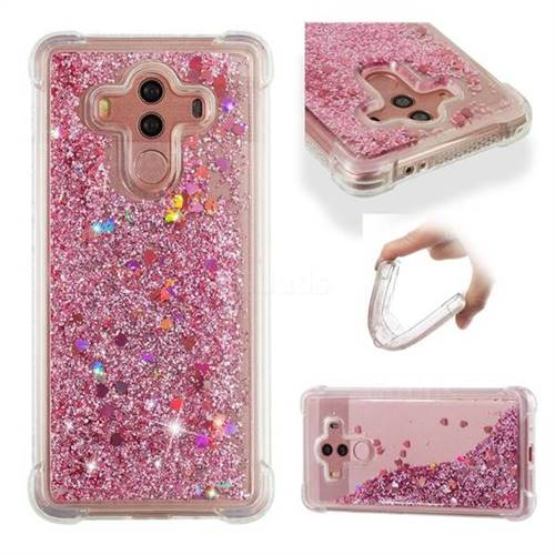 Dynamic Liquid Glitter Sand Quicksand Star TPU Case for Huawei Mate 10 Pro(6.0 inch) - Diamond Rose