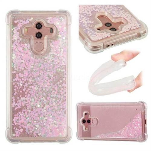 Dynamic Liquid Glitter Sand Quicksand TPU Case for Huawei Mate 10 Pro(6.0 inch) - Silver Powder Star