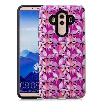 Lotus Flower Pattern 2 in 1 PC + TPU Glossy Embossed Back Cover for Huawei Mate 10 Pro(6.0 inch)