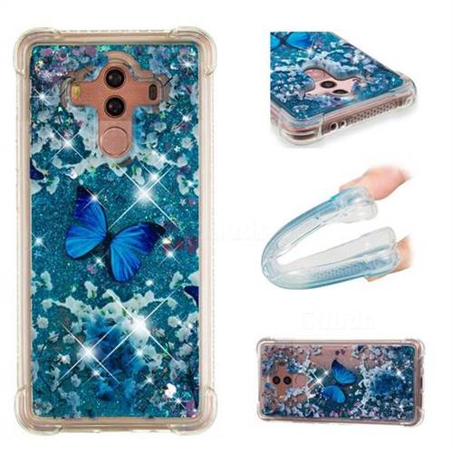 Flower Butterfly Dynamic Liquid Glitter Sand Quicksand Star TPU Case for Huawei Mate 10 Pro(6.0 inch)