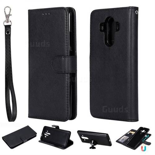 Retro Greek Detachable Magnetic PU Leather Wallet Phone Case for Huawei Mate 10 Pro(6.0 inch) - Black