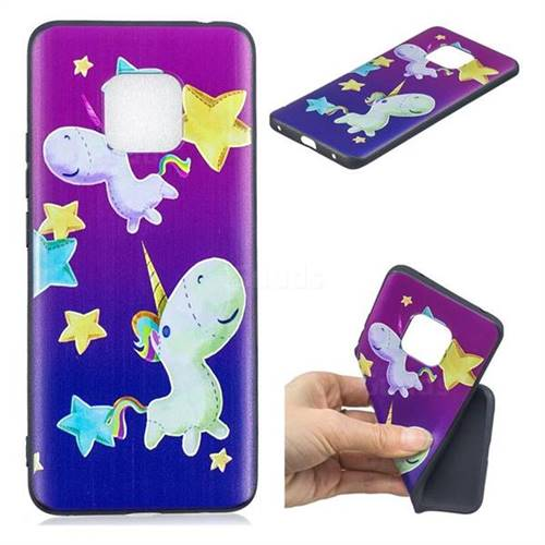 Pony 3D Embossed Relief Black TPU Cell Phone Back Cover for Huawei Mate 20