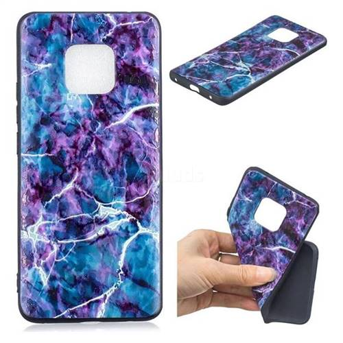 Marble 3D Embossed Relief Black TPU Cell Phone Back Cover for Huawei Mate 20