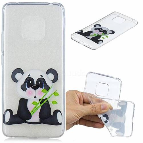 Bamboo Panda Clear Varnish Soft Phone Back Cover for Huawei Mate 20