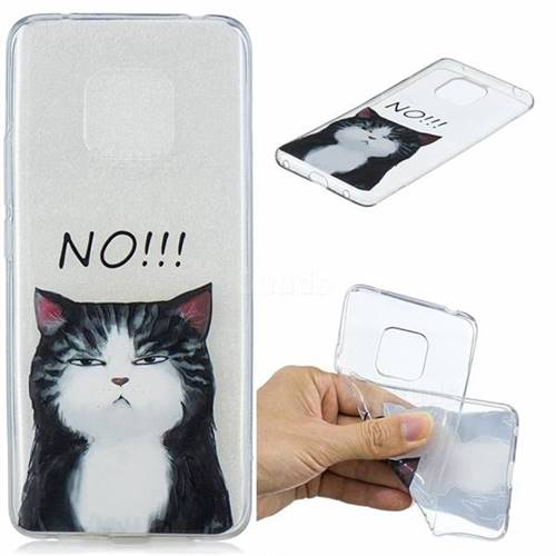 Cat Say No Clear Varnish Soft Phone Back Cover for Huawei Mate 20