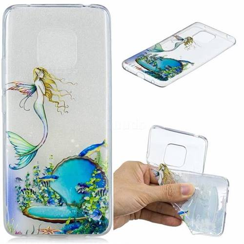 Mermaid Clear Varnish Soft Phone Back Cover for Huawei Mate 20