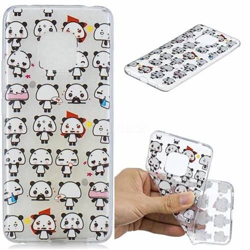 Mini Panda Clear Varnish Soft Phone Back Cover for Huawei Mate 20