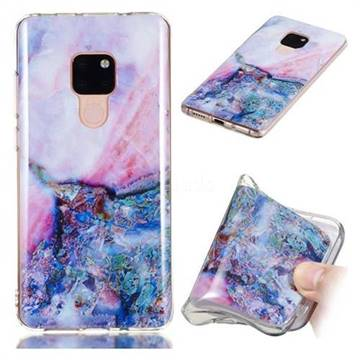 Purple Amber Soft TPU Marble Pattern Phone Case for Huawei Mate 20