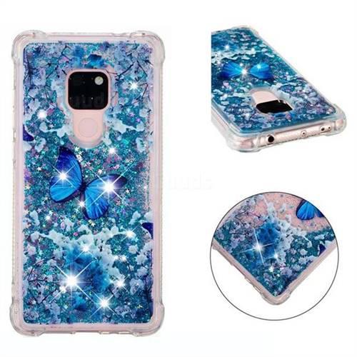 Flower Butterfly Dynamic Liquid Glitter Sand Quicksand Star TPU Case for Huawei Mate 20