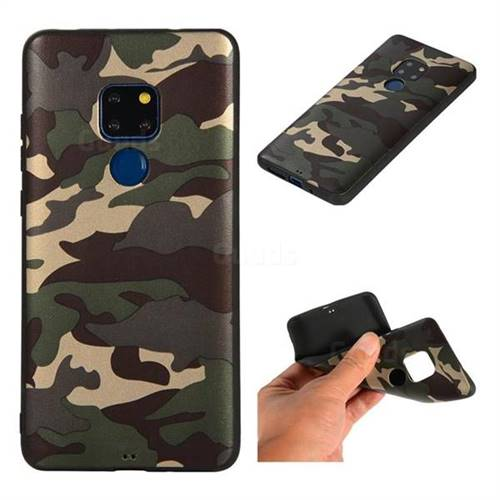 Camouflage Soft TPU Back Cover for Huawei Mate 20 - Gold Green