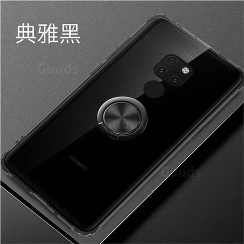 Anti-fall Invisible Press Bounce Ring Holder Phone Cover for Huawei Mate 20 - Elegant Black