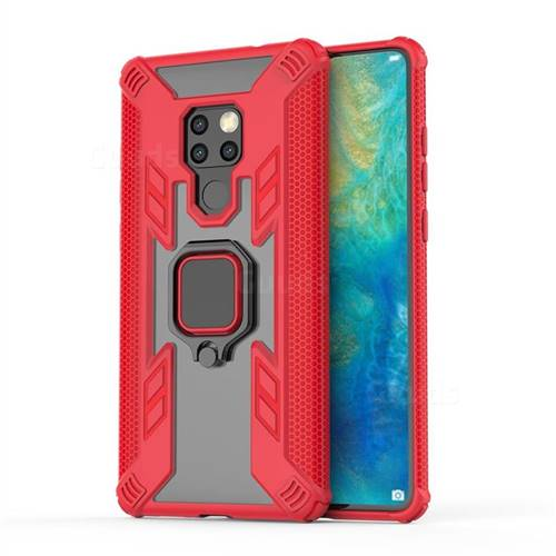 Predator Armor Metal Ring Grip Shockproof Dual Layer Rugged Hard Cover for Huawei Mate 20 - Red