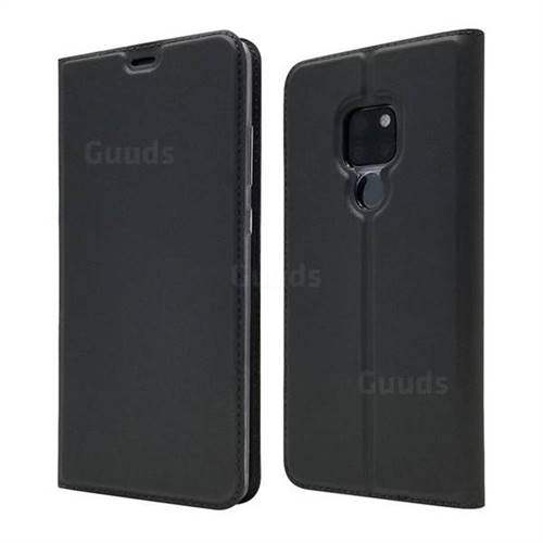 Ultra Slim Card Magnetic Automatic Suction Leather Wallet Case for Huawei Mate 20 - Star Grey