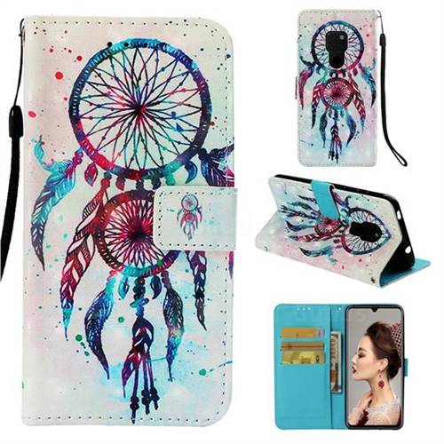 ColorDrops Wind Chimes 3D Painted Leather Wallet Case for Huawei Mate 20