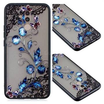 Butterfly Lace Diamond Flower Soft TPU Back Cover for Huawei Mate 20 Lite