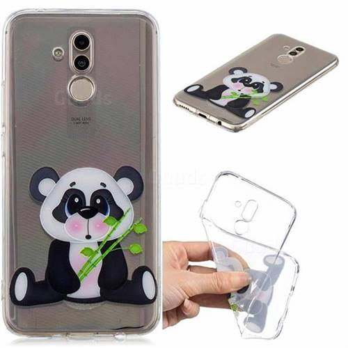 Bamboo Panda Clear Varnish Soft Phone Back Cover for Huawei Mate 20 Lite