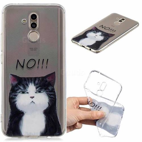 No Cat Clear Varnish Soft Phone Back Cover for Huawei Mate 20 Lite