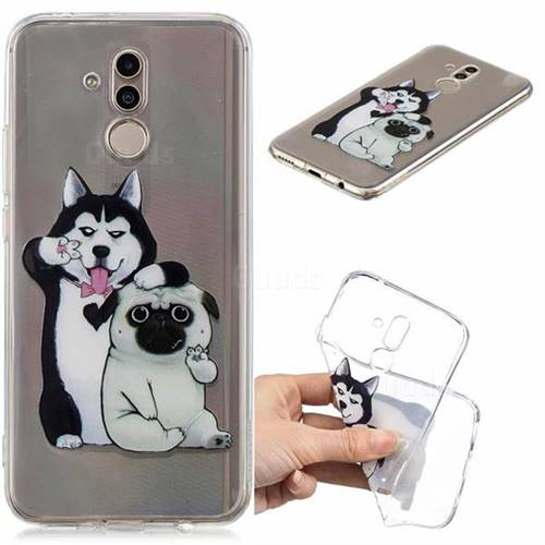 Selfie Dog Clear Varnish Soft Phone Back Cover for Huawei Mate 20 Lite