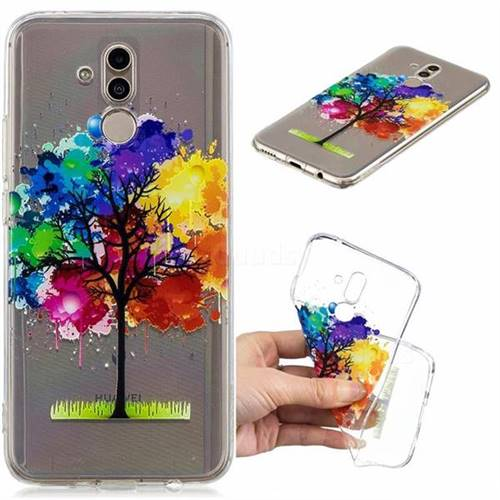 Oil Painting Tree Clear Varnish Soft Phone Back Cover for Huawei Mate 20 Lite