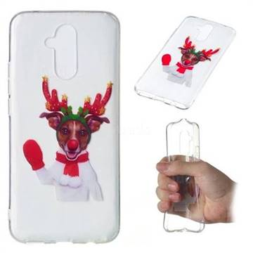 Red Gloves Elk Super Clear Soft TPU Back Cover for Huawei Mate 20 Lite