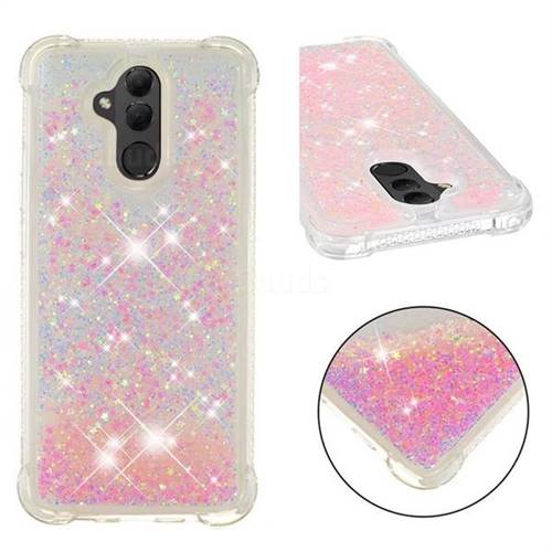 Dynamic Liquid Glitter Sand Quicksand TPU Case for Huawei Mate 20 Lite - Silver Powder Star