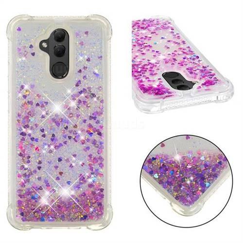 Dynamic Liquid Glitter Sand Quicksand Star TPU Case for Huawei Mate 20 Lite - Rose