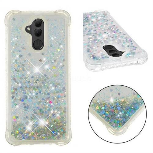 Dynamic Liquid Glitter Sand Quicksand Star TPU Case for Huawei Mate 20 Lite - Silver