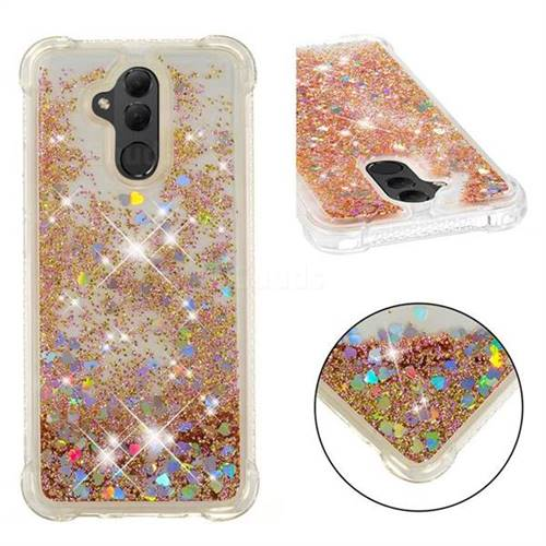 Dynamic Liquid Glitter Sand Quicksand Star TPU Case for Huawei Mate 20 Lite - Diamond Gold
