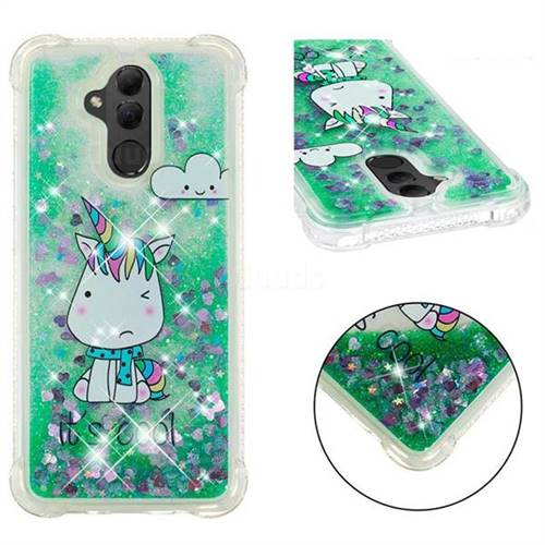 Tiny Unicorn Dynamic Liquid Glitter Sand Quicksand Star TPU Case for Huawei Mate 20 Lite