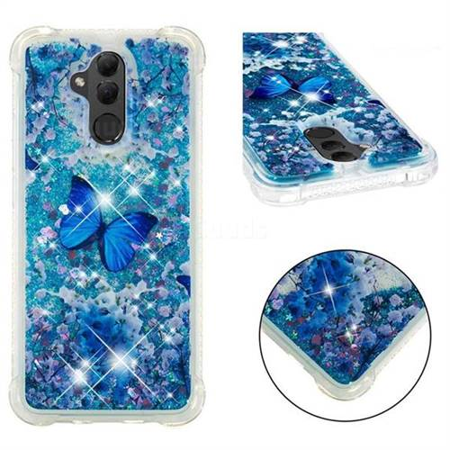 Flower Butterfly Dynamic Liquid Glitter Sand Quicksand Star TPU Case for Huawei Mate 20 Lite