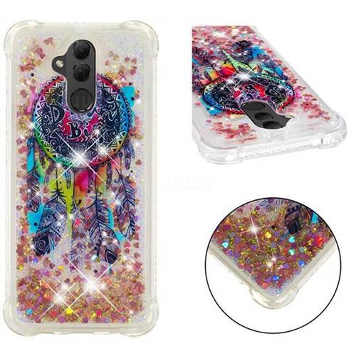 Seal Wind Chimes Dynamic Liquid Glitter Sand Quicksand Star TPU Case for Huawei Mate 20 Lite