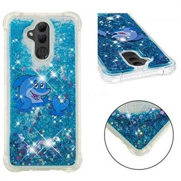 Happy Dolphin Dynamic Liquid Glitter Sand Quicksand Star TPU Case for Huawei Mate 20 Lite