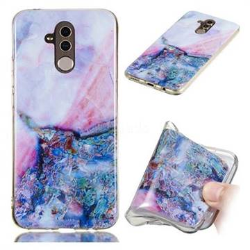 Purple Amber Soft TPU Marble Pattern Phone Case for Huawei Mate 20 Lite