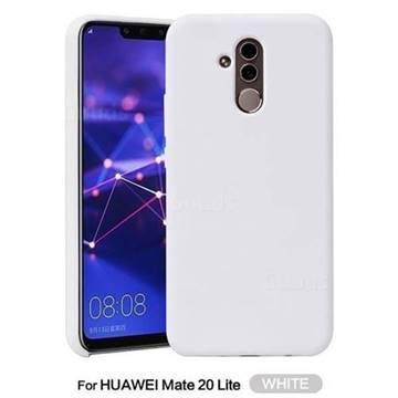 big sale 72dd1 a8b96 Howmak Slim Liquid Silicone Rubber Shockproof Phone Case Cover for Huawei  Mate 20 Lite - White