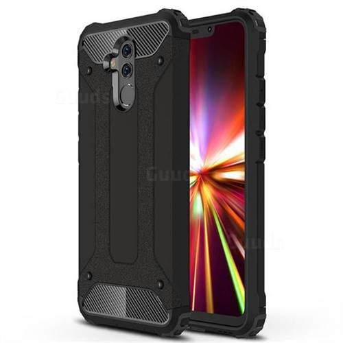 King Kong Armor Premium Shockproof Dual Layer Rugged Hard Cover for Huawei Mate 20 Lite - Black Gold