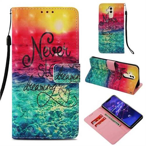 Colorful Dream Catcher 3D Painted Leather Wallet Case for Huawei Mate 20 Lite